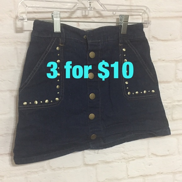 Justice Other - Justice button up jean skirt 12